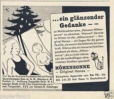 Höhensonne Hanau Reklame Weihnachten 1935 Sonnenbad sonnen Christbaum Ad Werbung