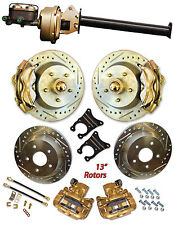 """1947-54 Chevy Car 13"""" Disc Brake complete front and rear brake systems"""