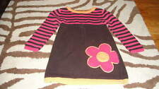 STRIPED FLOWER DRESS TODDLER GIRLS SZ S 4