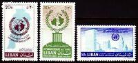 Libanon Lebanon 1961 ** Mi.709/11 UNO Vereinte Nationen United Nations New York