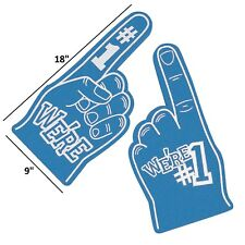 Blue - We're Number #1 Finger Team Color Cheerleading Foam Hand (Blue)