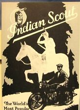 1928  Indian Scout  Hendee  The World's Most Popular Motorcycle   Sales Brochure