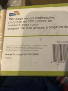 100PK Round Wooden Clothespins for hanging laundry crafting Durable clothespins