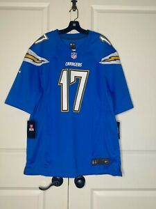 """NWT NFL CHARGERS """"PHILLIP RIVERS 17"""" FOOTBALL NIKE JERSEY SAN DIEGO SIZE: XL"""