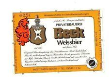 Germany - Beer Label - Brauerei Beck, Trabelsdorf - Weissbier