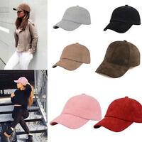 Unisex Men Women Suede Baseball Cap Snapback Visor Sport Sun Adjustable Hat HS
