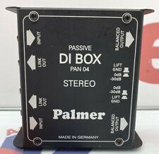 Palmer DI-Box PAN 04 passiv DI Stereo Klinke Musik Equipment Music Sound Voice