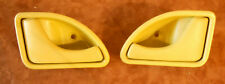 2 Poignees porte portiere interieur jaune gauche droite Twingo 1 phase 1 2 3