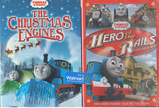 THOMAS AND FRIENDS CHRISTMAS ENGINES/HERO OF THE RAILS (DVD, 2014) NEW