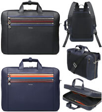 NWOT Paul Smith Leather Briefcase Backpack Convertible - Black