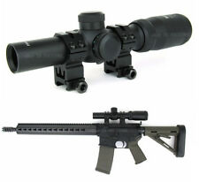 Tactical 1-4x24mm Tri-illuminated FFP First Focal Plane Rifle Scope w/Free Rings