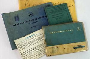 vintage 1966 MERCEDES BENZ 230SL SERVICE PAPERWORK GERMAN & U.S.