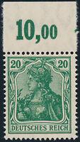 DR 1920, MiNr. 143 c P OR, tadellos postfrisch, Kurzbefund Bechtold, Mi. 350,-