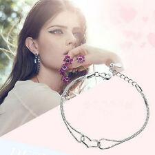 Women Charm Bracelet 925 Silver Plated Heart Love Bracelet Chain Fashion Cool%