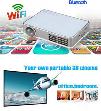 1080P Full HD DLP 3D Mini Wifi Projector Home Theater RJ45 HDMI + 3D Glasses