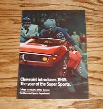 Original 1969 Chevrolet Super Sports College Football Sales Brochure 69 Chevy