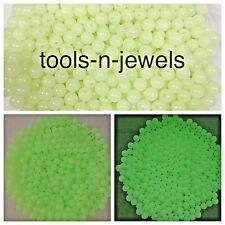 50 Acrylic Beads Glow In The Dark Plastic Bead Luminous Round Craft Bracelet