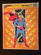 1989 SUPERMAN GOLDEN FRAME TRAY JIGSAW PUZZLE DC COMICS - RARE HERO CLARK KENT
