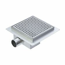 150mm Square Stainless Steel Wetroom Shower Drain Channel Trap Gully (#14)