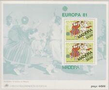 Europa CEPT 1981 Folklore  Madeira Blok 2 - Postfris MNH cat waarde € 5,50