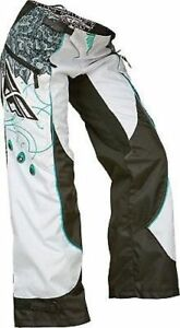 NEW FLY RACING KINETIC BOOT CUT LADIES  GIRLS PANT PANTS SIZE 5/6  teal/white