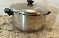 Vintage Revere Ware 1801 6 QT Copper Bottom Stock Pot with Lid Clinton Ill