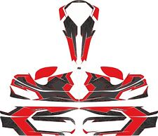 TRIBAL RED CUSTOM FULL KART STICKER KIT - KARTING - GO KART - JakeDesigns