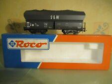 "ROCO WAGON TREMIE SNCF ""SGW"" à BOGIES  en boite éch HO réf 46241"