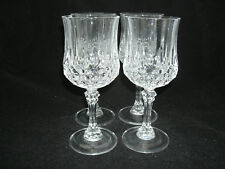 "Cristal d'Arques Durand LONGCHAMP Set of 4-7 1/4"" Water Goblets Lead Crystal EC"