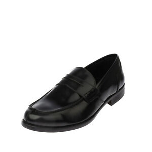 RRP €125 CAFENOIR Leather Penny Loafer Shoes Size 43 UK 9 US 10 Made in Italy