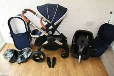 iCandy Peach 3 Royal Blue pram and car seat travel system 3 in 1