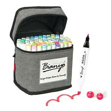 Bianyo 72 Colors Dual Tip sketch  Markers pastel Set  with Travel Canvas Bag