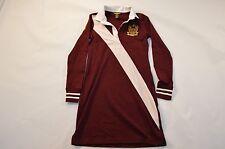Womens Ralph Lauren Polo Sport Rugby Pique Cotton Shirt Dress Red Size S SMALL