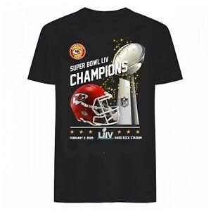 Men's Super Bowl LIV 2021 Champions Kansas City Chiefs T-Shirt Sport Fan Gift