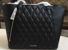 Vera Bradley Leather Small Avery Tote Bag in Black