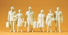Preiser 45177 Reisende. 6 unbemalte Miniaturfiguren. 1:22,5