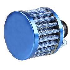 12mm KFZ Motorrad Intake Luftfilter Sportluftfilter Turbo Vent Crankcase Blau