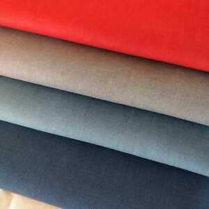 Linen Blend Red, Grey, Mid Blue, Navy fabrics by Makower