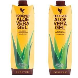 2 Forever Aloe Vera Gel  33.8 fl oz/1 L HALAL / KOSHER 99.7% Aloe Exp 2022/23