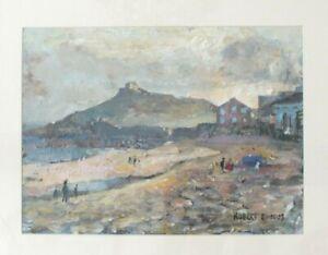 original painting, Robert Bindloss coastal scene, St Ives, Cornwall, unframed