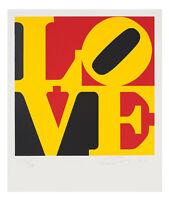 Robert Indiana, original Serigraphie, signiert und nummeriert. LOVE. POP ART