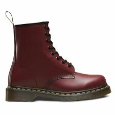 Dr. Martens 1460 Mens Red Leather Casual Dress Lace Up Boots Shoes