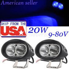 2X20W LED Forklift Truck Blue Warning Lamp Safety Working Spot Light 10-80V IP68