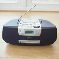 Sony CFD-S45L Ghettoblaster CD Player Radio TESTED & WORKING