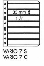 LIGHTHOUSE Vario 7 Strip Black Stamp Album Stock Sheets Pack of 5 33mm High
