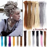 Crochet Dread Lock Afro Hair Extensions Handmade Dreadlocks Braid Thick Hip-hop