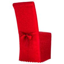 Housse de chaise habillage jeté universel mariage avec nœud motif rouge