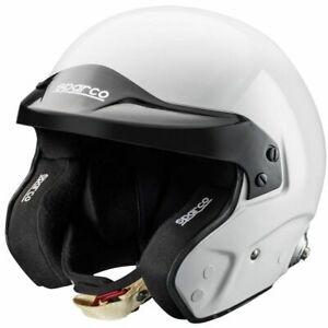 FIA  SNELL  Helmet Sparco Pro RJ-3 Open Face Jet White Rally Race