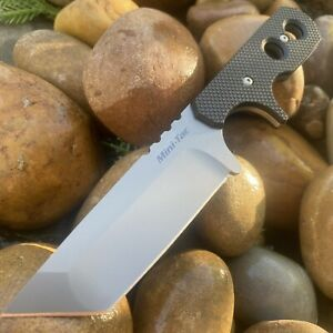 COLD STEEL MINI TAC TANTO NECK KNIFE FIXED JAPANESE AUS 8A STAINLESS PLAIN BLADE