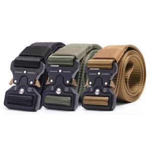 Men Tactical Buckle Belt Military Nylon Belt Heavy Duty Gear Training Belt Strap